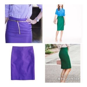 J Crew No 2 Pencil Skirt Lot (2 skirts) Sz 8
